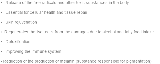 •   Release of the free radicals and other toxic substances in the body